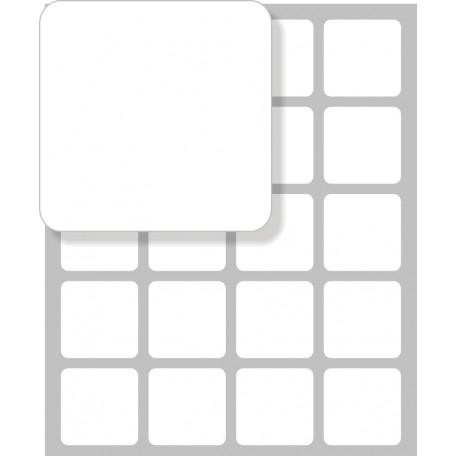 Samolepící štítek čtvercový