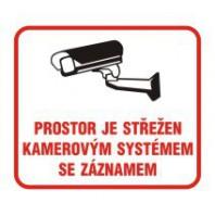 Prostor je střežen kamerovým systémem se záznamem