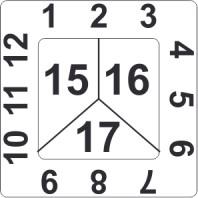 Kalibrační štítek čtvercový 3-letý