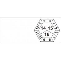 Kabelové kalibrační štítky tříleté