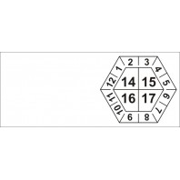 Kabelové kalibrační štítky čtyřleté