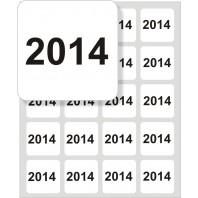 Samolepící štítek čtvercový s čísly