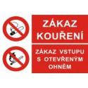 Zákaz kouření - Zákaz vstupu s otevřeným ohněm