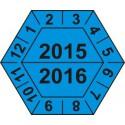 Kalibrační štítek šestihranný