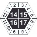 Kalibrační štítek šestihranný 4-letý