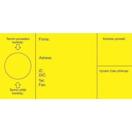 Kontrolní štítek HP 3