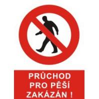 Průchod pro pěší zakázán