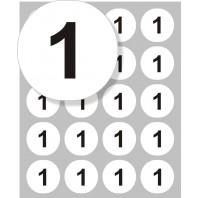 Samolepící štítek kulatý s čísly