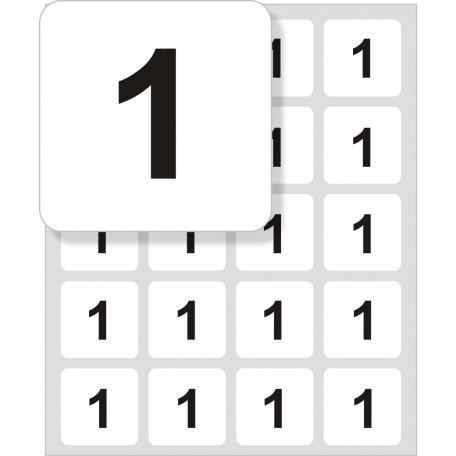 Samolepící štítek čtvercový s čísli