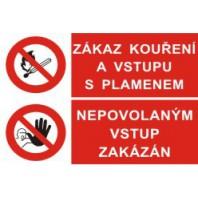 Zákaz kouření a vstupu s plamenem - Nepovolaným vstup zakázán