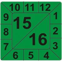 Kalibrační štítek čtvercový