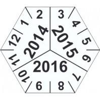Kalibrační štítek šestihranný 3-letý