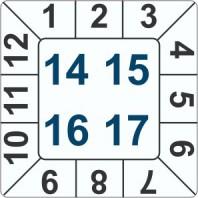 Kalibrační štítek čtvercový 4-letý