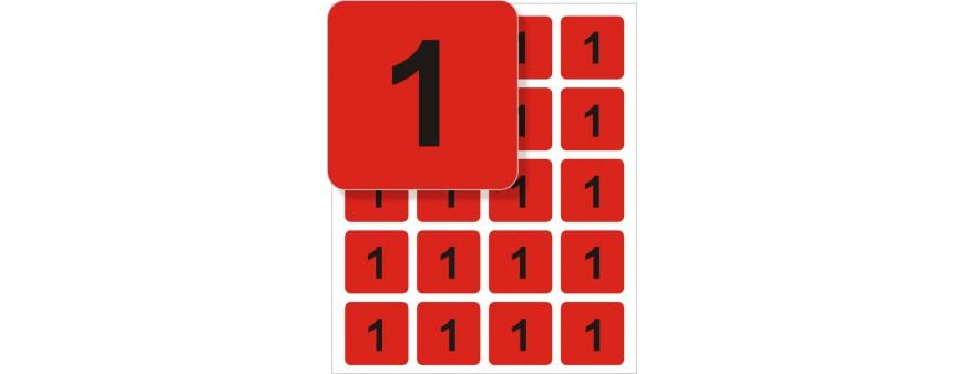 štítky s čísly